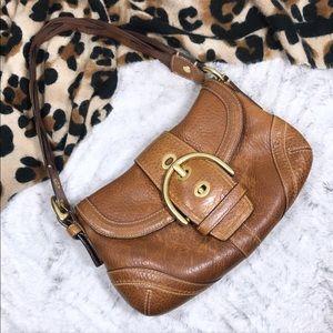 Rare Pebbled Leather Braided Strap Small Soho Bag